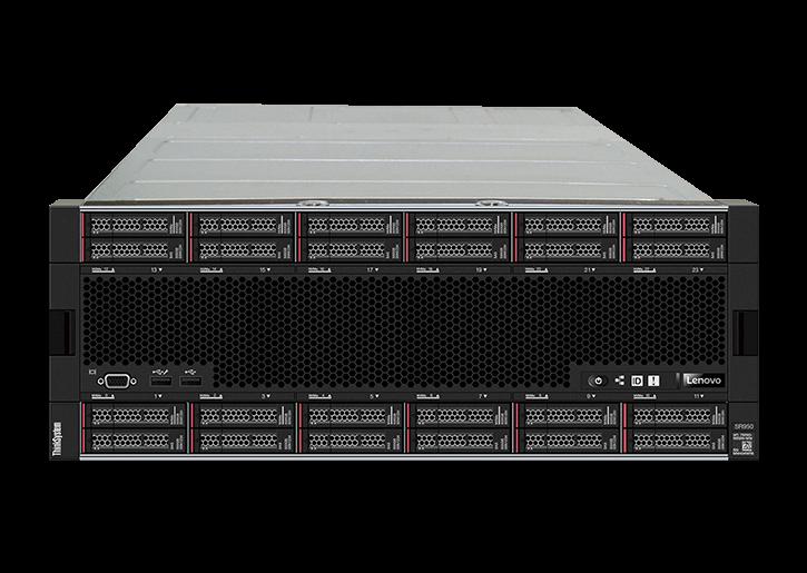 Вид спереди сервера Lenovo ThinkSystem SR950 24SFF
